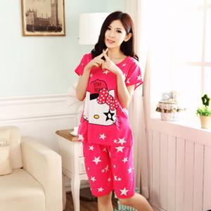 a583b9927 Hello Kitty Lady Pyjamas Set / Short Sleeves Sleepwear