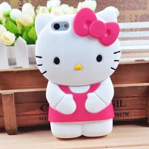 cc482138eb3f8c iPhone 6 / 6 Plus Hello Kitty Cartoon Silicone Soft Case